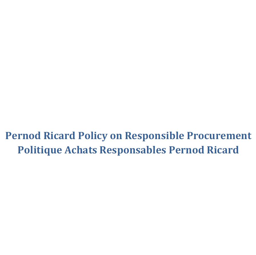 Pernod Ricard Policy on Responsible Procurement
