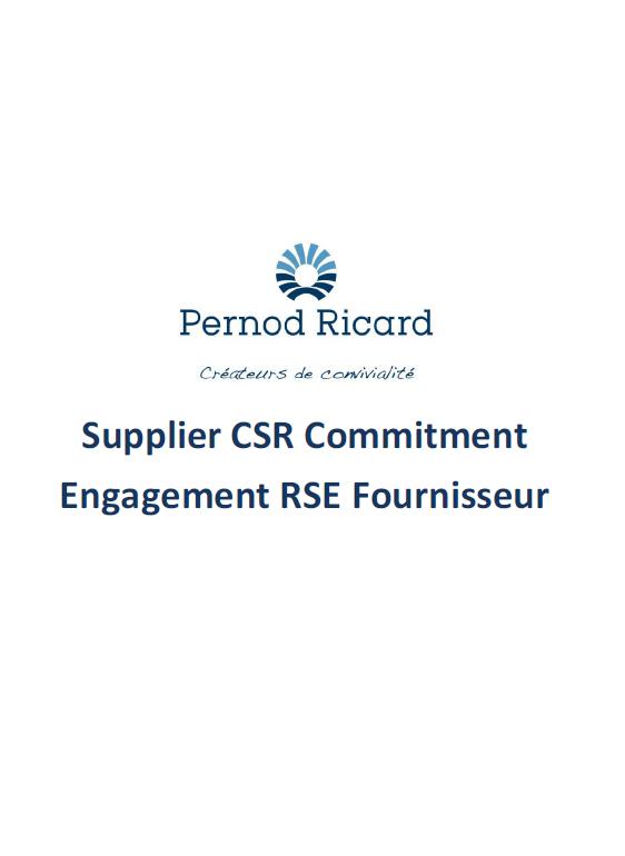 Engagement RSE Fournisseur