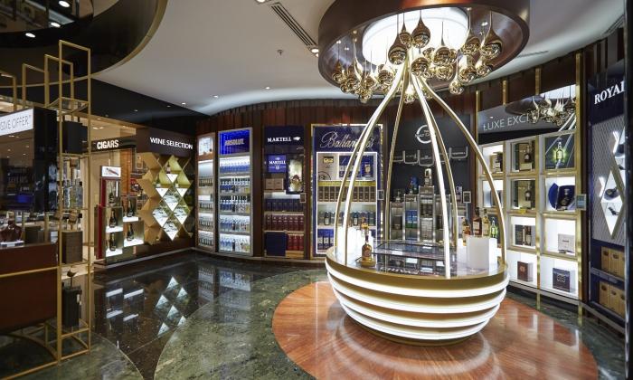 Une boutique Premium qui met en valeur les marques Pernod Ricard