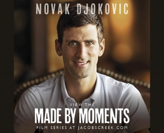 Novak Djokovic et Jacob_s Creek_ jeu set et match