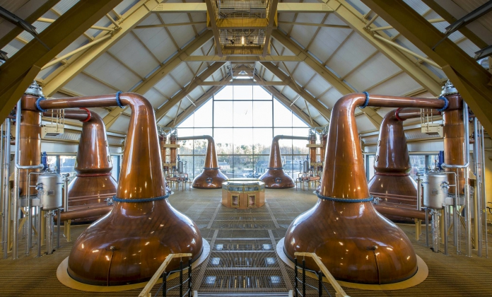 Dalmunach distillery in Speyside, Scotland 2015