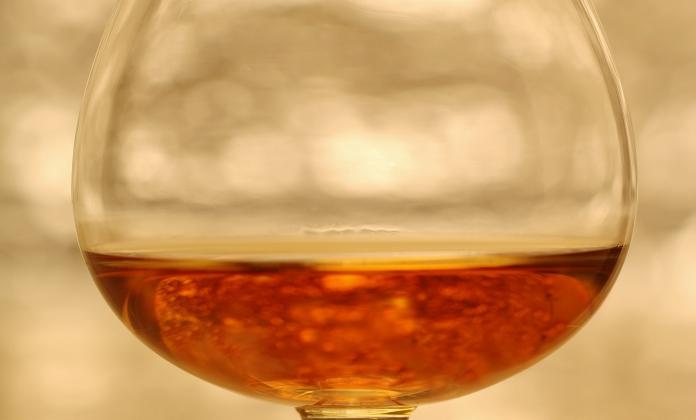 Glass of Armagnac Marquis de M 2006