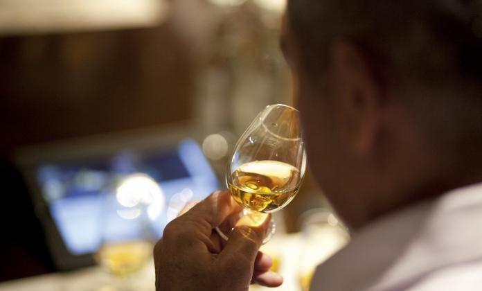 Man tasting whisky 2012