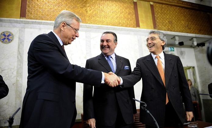 Mats Odell, Patrick Ricard et Pierre Pringuet 2008