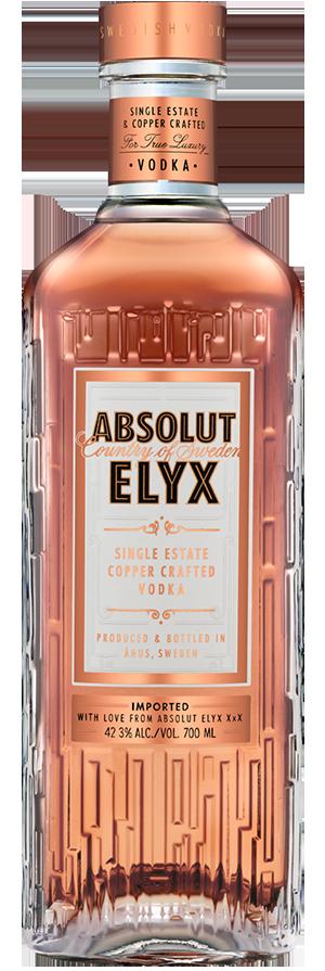 Bottle of Absolut Elyx