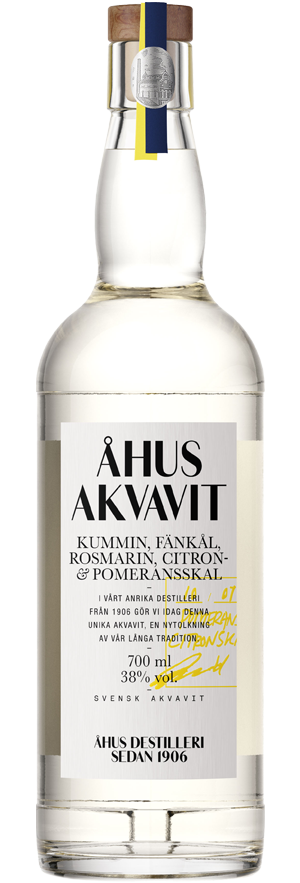 Bottle of Åhus Akvavit