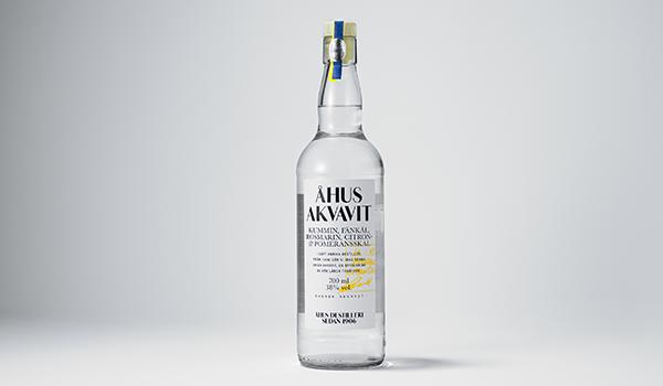 Bottle of Ahus Akvavit