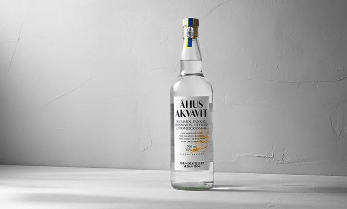 Bottle of Ahus Akvavit