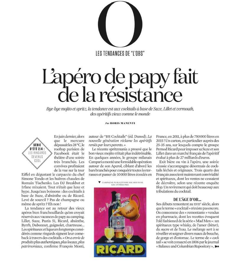 La renaissance des apéritifs à la française